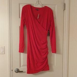 NWT Red long-sleeve dress